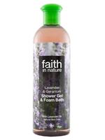 Bilde av Faith Lavender & Geranium Shower Gel/Foam Bath